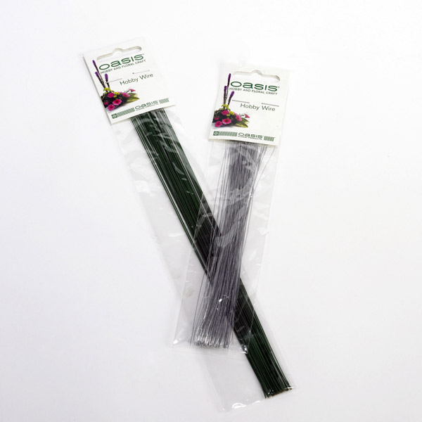 "Oasis Hobby Wire - Green Lacquered Wire - 10"" x 22 Gauge x 25g"