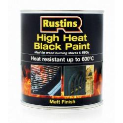 Rustins High Heat Paint Black