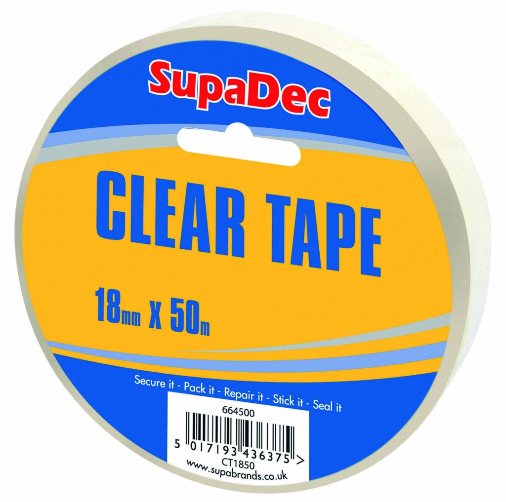 SupaDec Clear Tape - 18mm x 50m