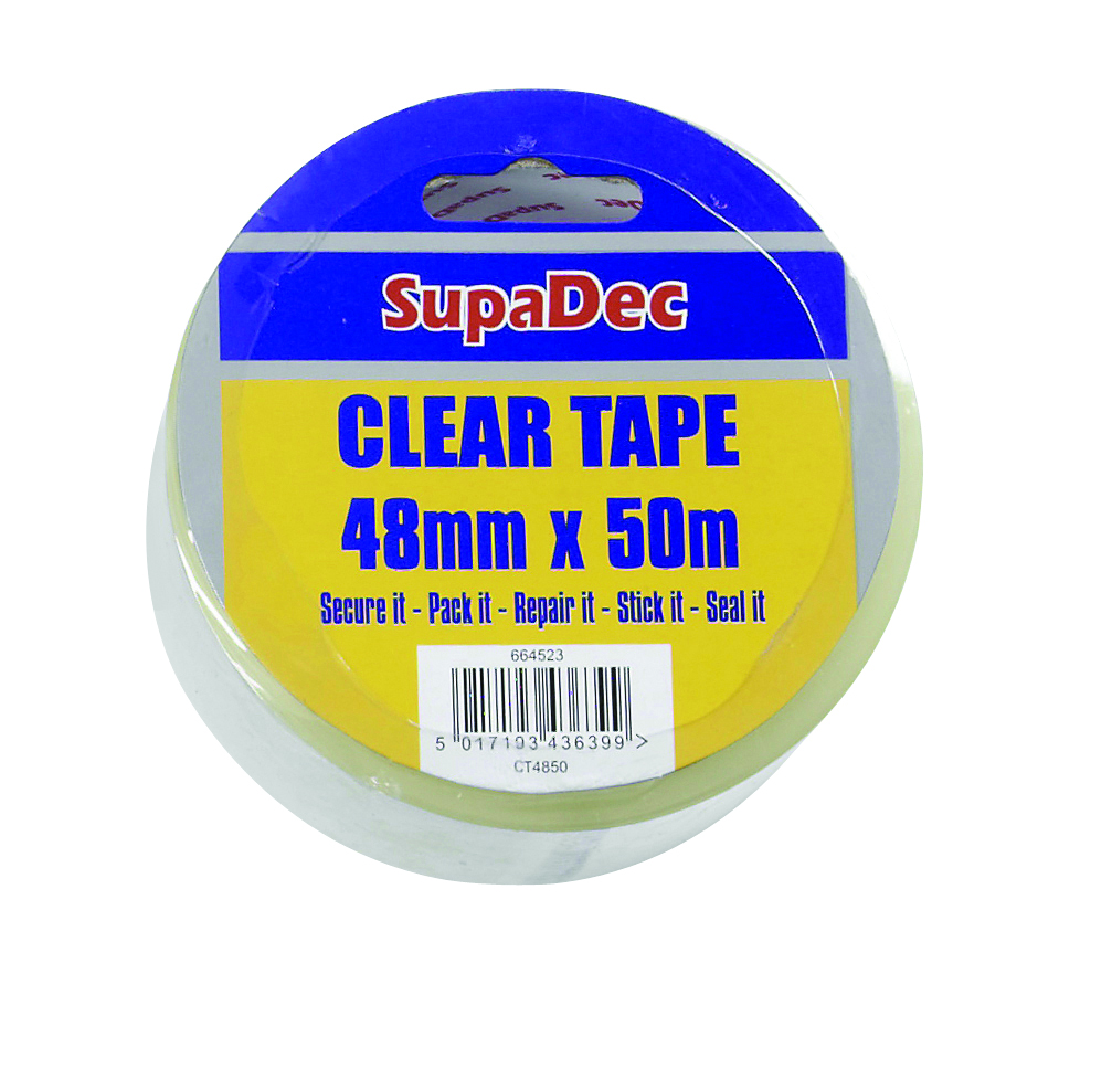 SupaDec Clear Tape - 48mm x 50m