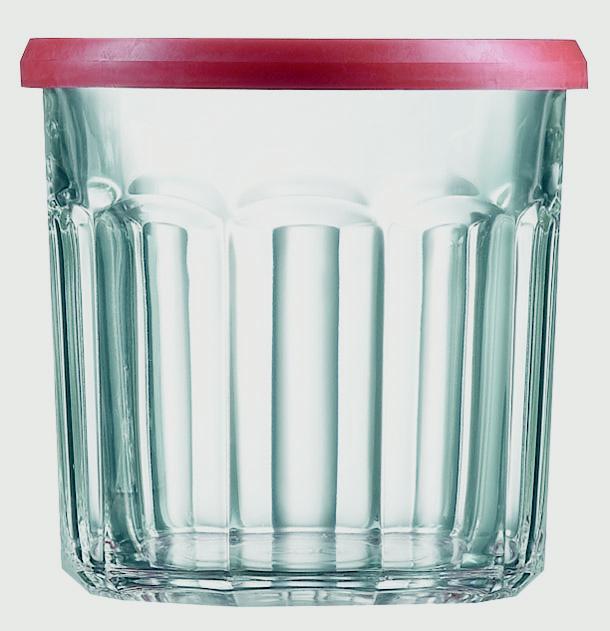 Luminarc Red Top Jam Jar - Sealing Lid (6 Pack) - 0.5L