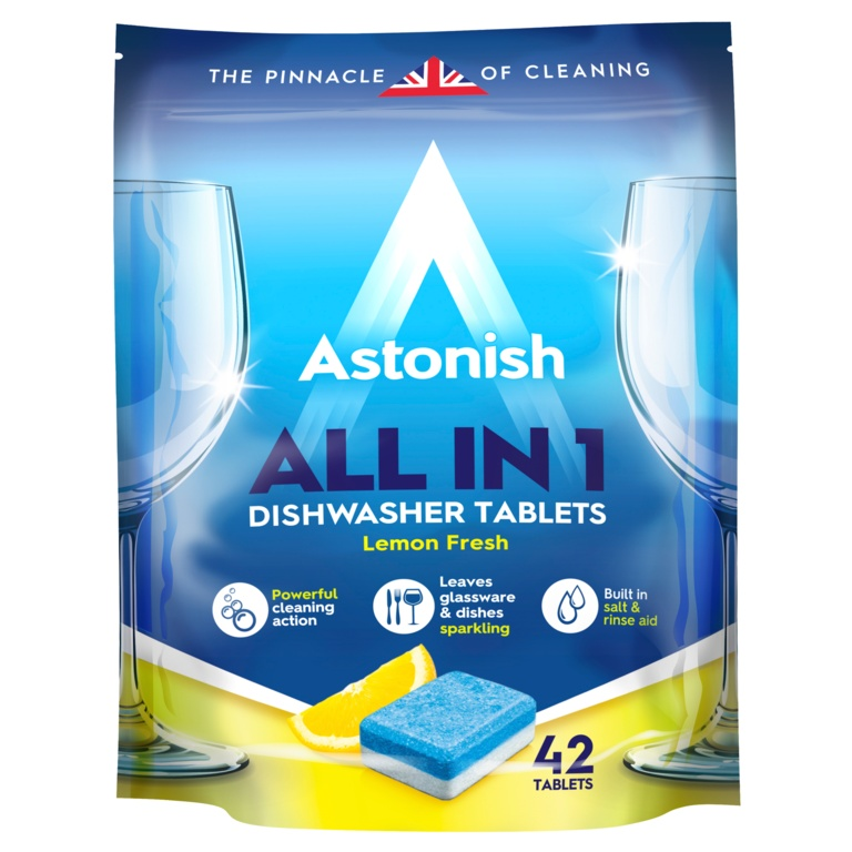 Astonish 5 In 1 Dishwasher Tablets - Lemon - 42 Tabs