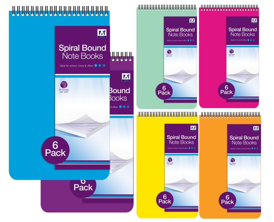 Anker Small Spiral Notebooks - 30 Sheets - Pack of 4