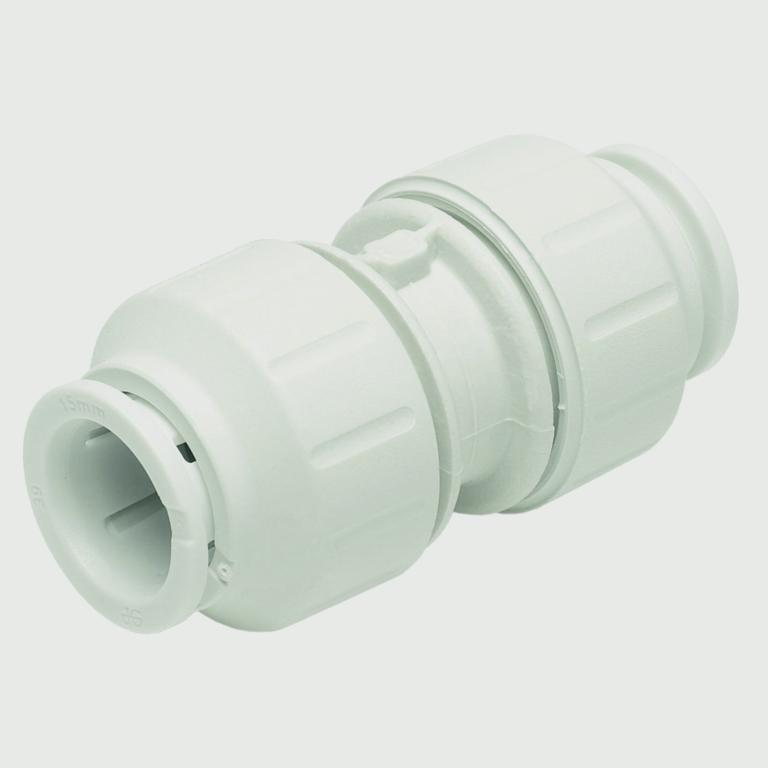 JG Speedfit Equal Straight Connector - 15mm Pack 10 - White