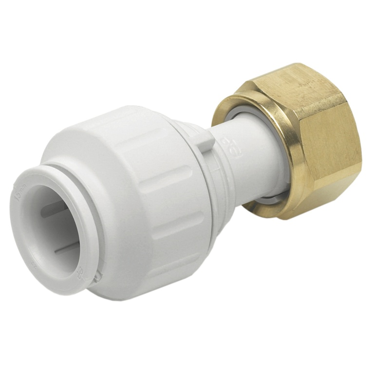 JG Speedfit Straight Tap Connector - 15mm x 1/2 tsp Pack 5