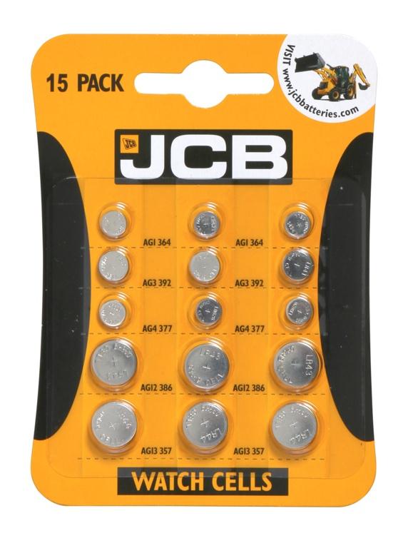 JCB Watch Batteries - Pack 15