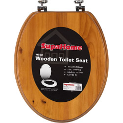 SupaHome Antique Pine Finish Toilet Seat