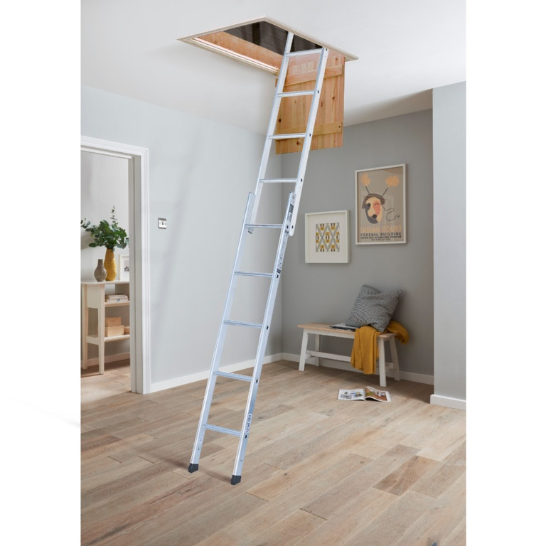 Youngman Group Space Maker 2 Section Aluminium Loft Ladder