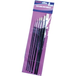 SupaDec Black Handle Artist Brush Set
