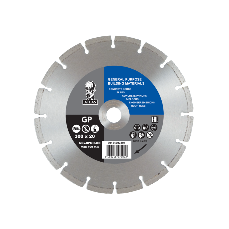 Atlas Diamond Blade - Universal - 300 x 7 x 2.9 x 20mm