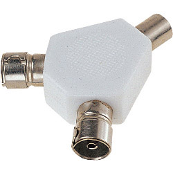 Dencon 2 Way Coax Splitter - Bubble Packed