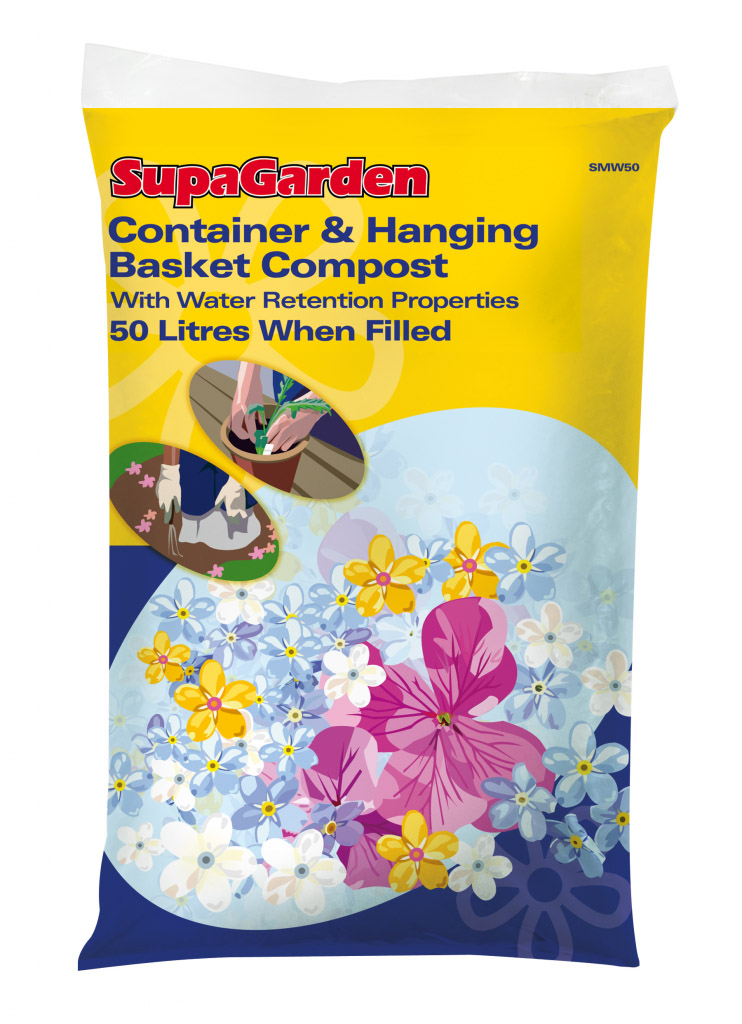 SupaGarden Container & Hanging Basket Compost - 50L