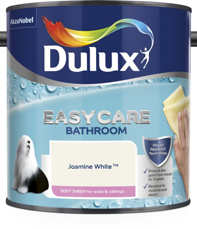 Dulux Easycare Bathroom Soft Sheen 2.5L - Jasmine White