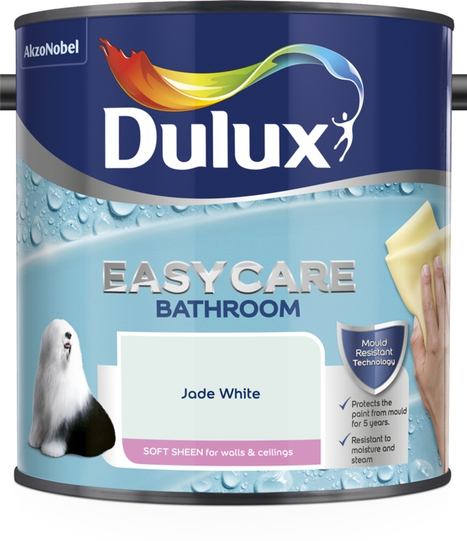 Dulux Easycare Bathroom Soft Sheen 2.5L - Jade White