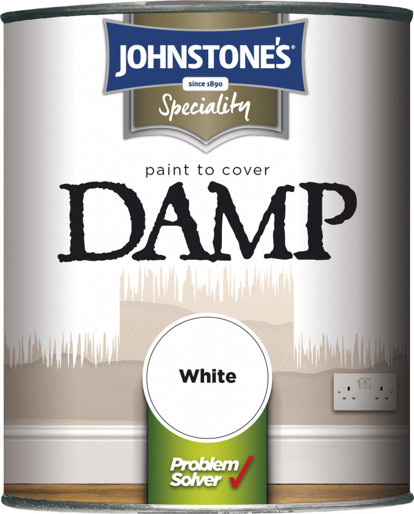 Johnstone's Paint To Cover Damp - 750ml White