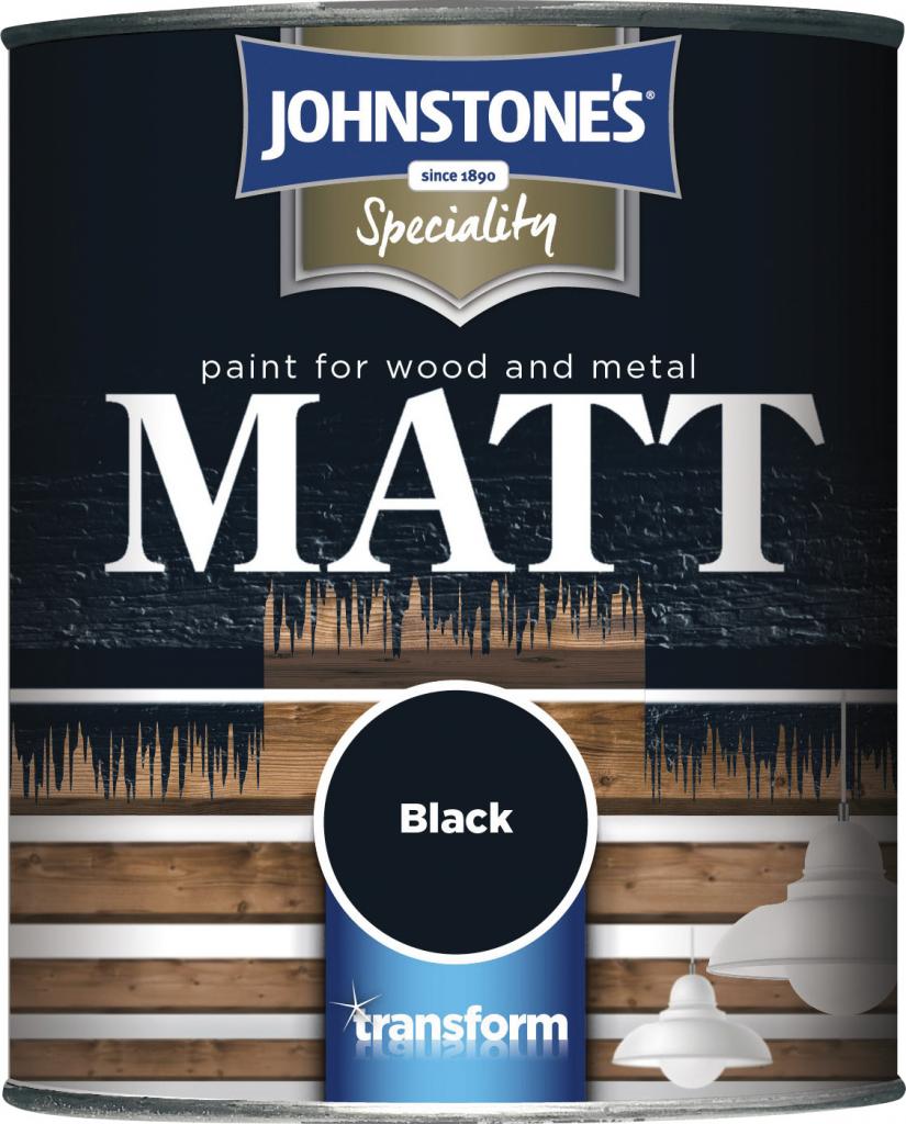 Johnstone's Paint For Wood & Metal - 250ml Black Matt