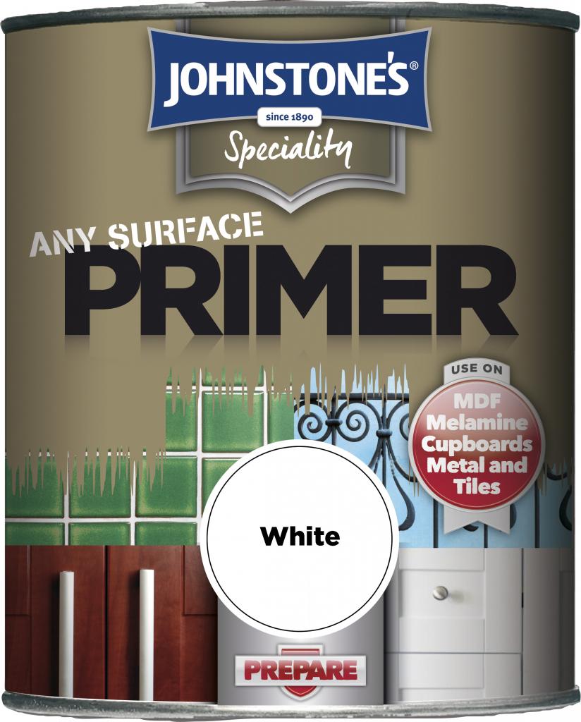 Johnstone's Any Surface Primer - 250ml White