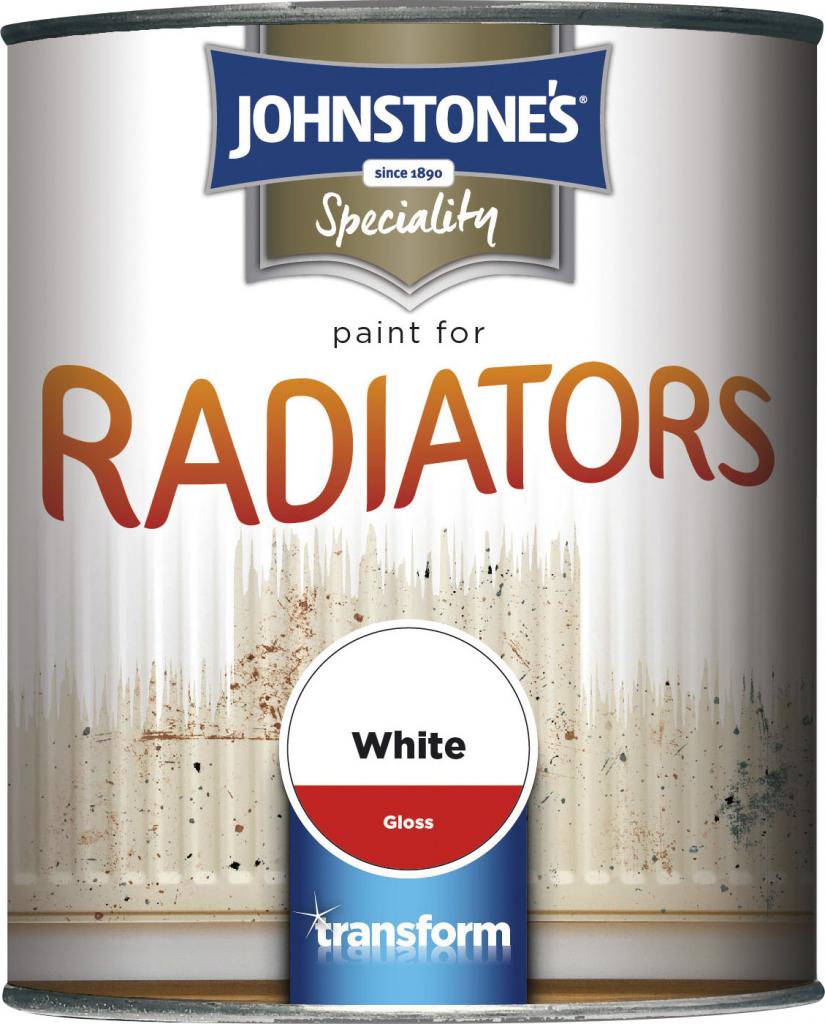 Johnstone's Paint For Radiators - 250ml White Gloss