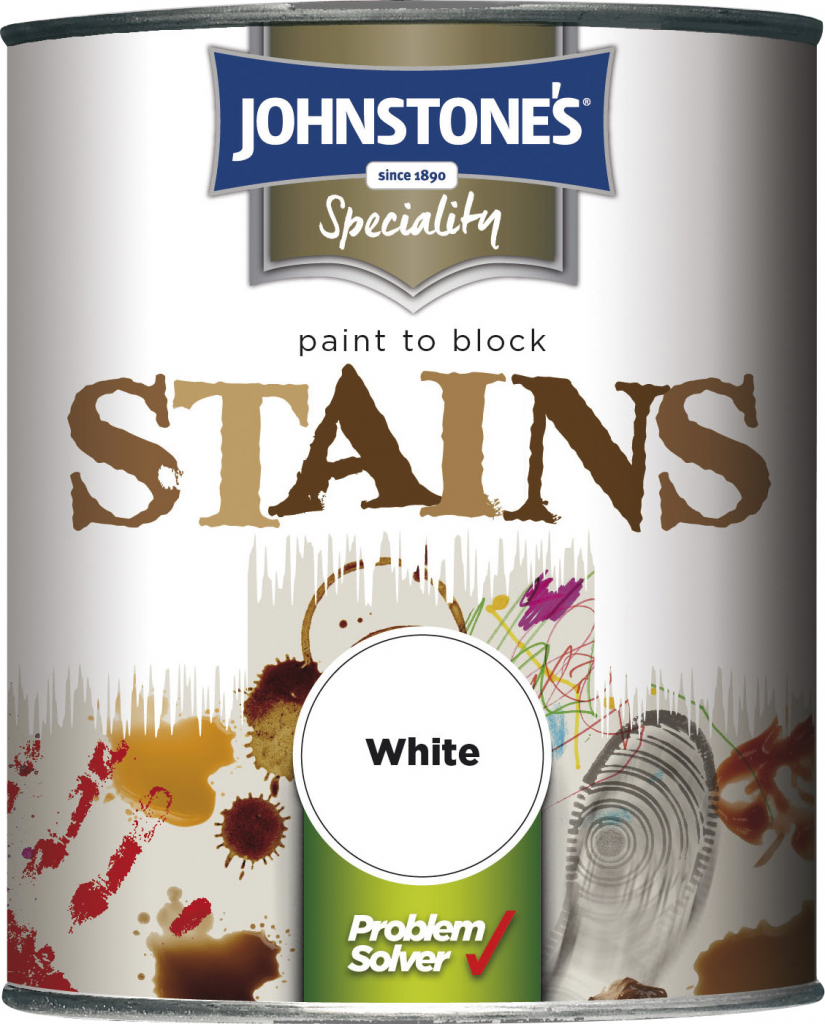 Johnstone's Paint To Block Stains - 750ml White