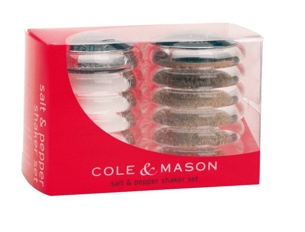 Cole & Mason Shaker Set - clear/chrome