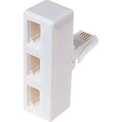 Dencon 3 Way Phone Line Adaptor Bubble Packed