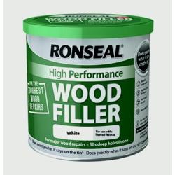 Ronseal High Performance Wood Filler 550g - White