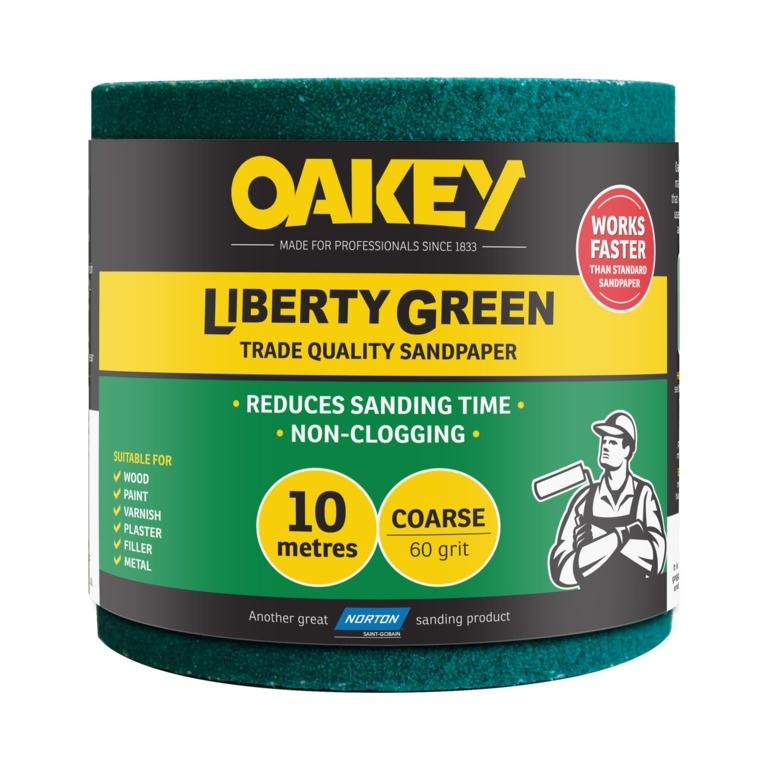 Norton Oakey Liberty Green Rolls - 10m x 115mm - 60 Grade