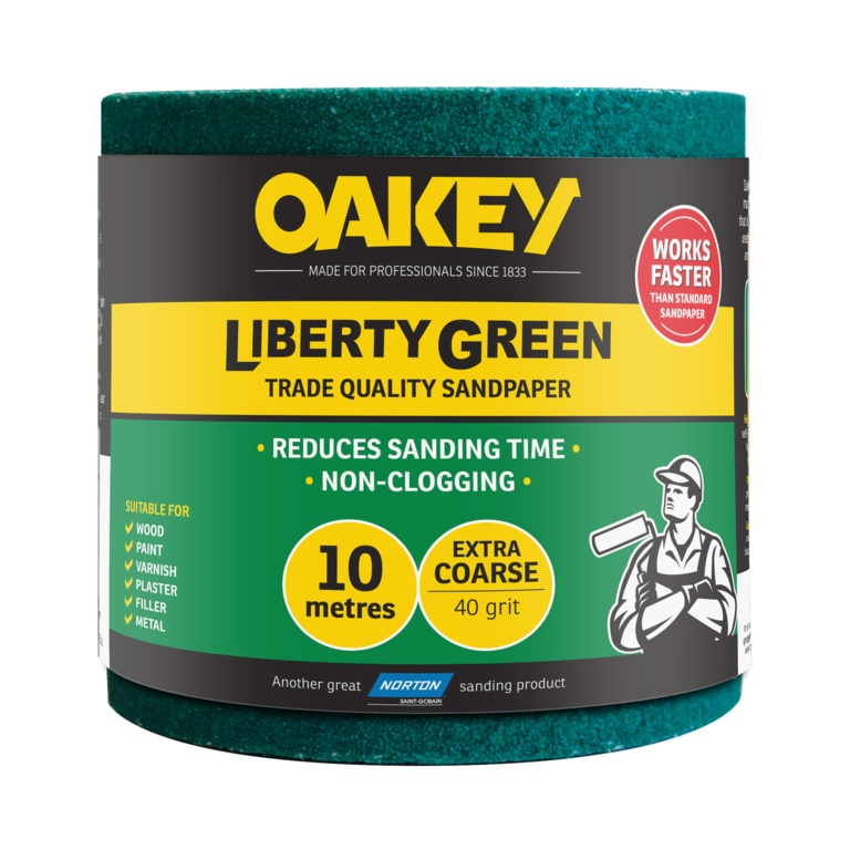 Norton Oakey Liberty Green Rolls - 10m x 115mm - 40 Grade