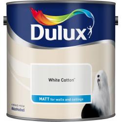 Dulux Standard Matt 2.5L White Cotton