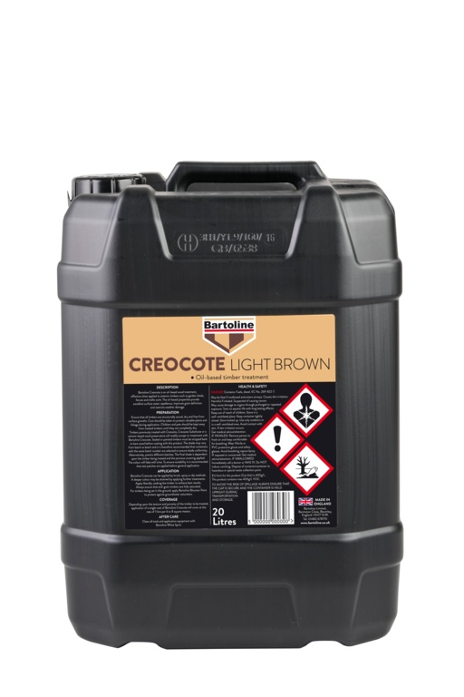 Bartoline Creocote Oil Based Wood Treatment - 20L Light Brown