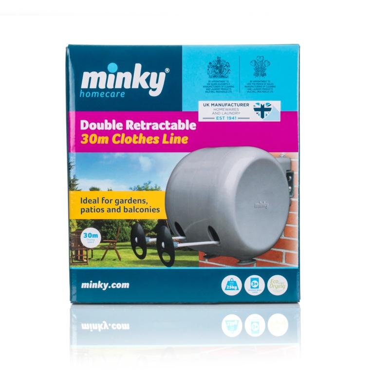 Minky Retractable Clothes Line - 2 x 15m