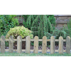 Ambassador Cottage Picket Fence - 28 x 111cm