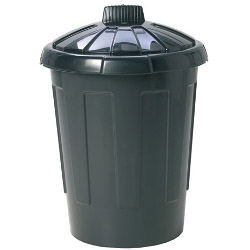 Wham Dustbin With Secure Lid - 80L Black