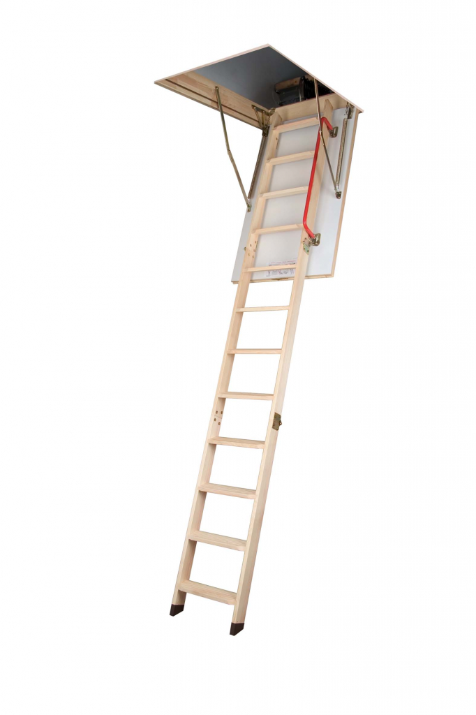 Fakro Wooden Folding Section Loft Ladder - 60 x 120cm