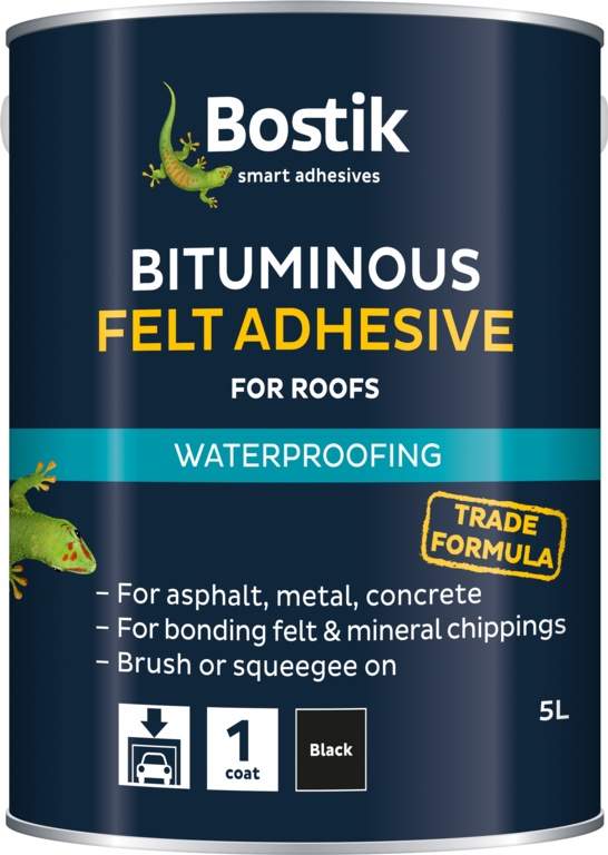Bostik Bituminous Felt Adhesive for Roofs - 22.5L