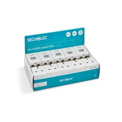 Securlec 13A, 3 Way Multiplug Fused 13A to BS1363/3