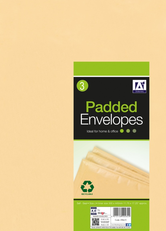 Anker Padded Brown Envelopes - 320 x 455 Pack 3