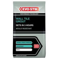 Evo-Stik Wall Tile Grout Fast Set White 500g