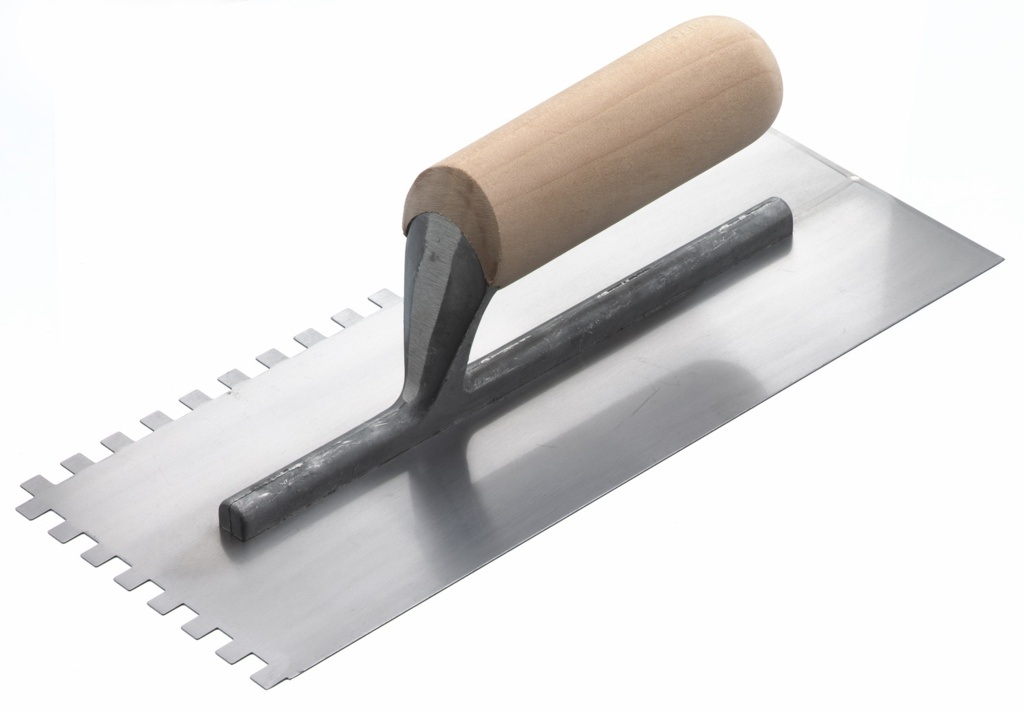 RST Notched Trowel - 10mm (Square Notch) Wood Handle