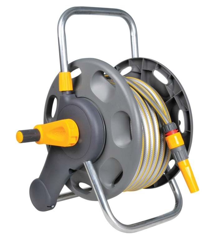 Hozelock 2 in 1 Assembled Reel - With 25m Hose
