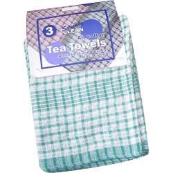 Squeaky Clean Rice Weave Tea Towels x3