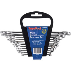SupaTool Chrome Combination Spanner Set - 11 Piece