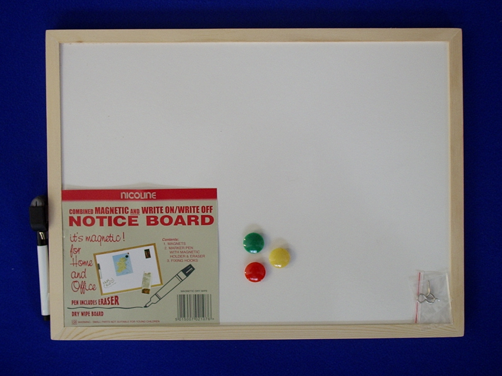 Nicoline Magnetic Dry Wipe Boards - 30cm x 40cm