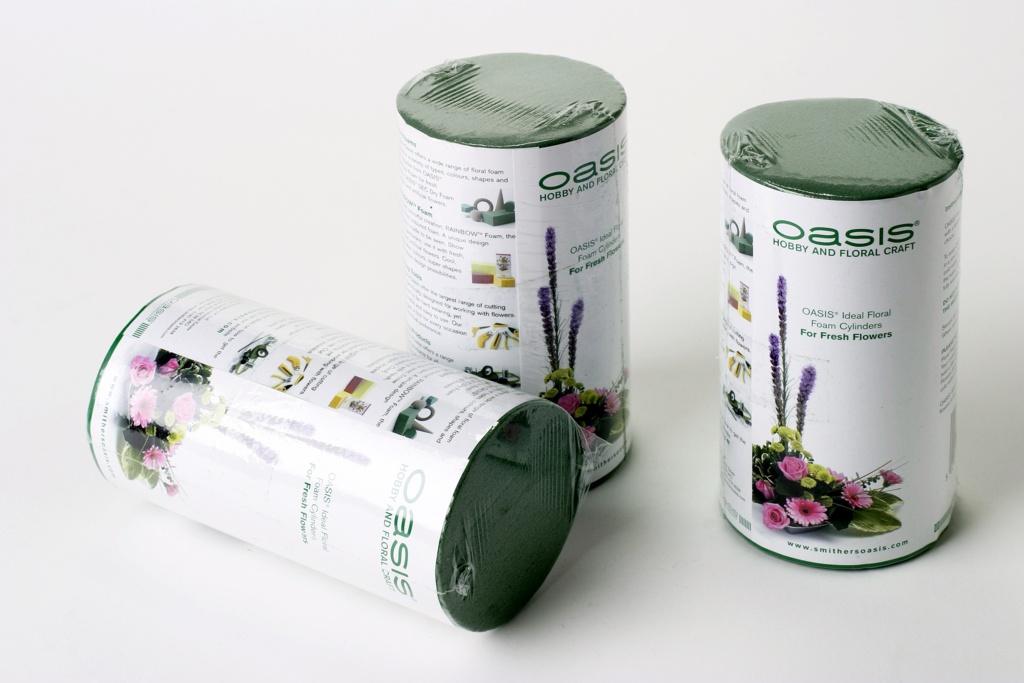 Oasis Ideal Floral Foam Cylinder - 8 x 6cm