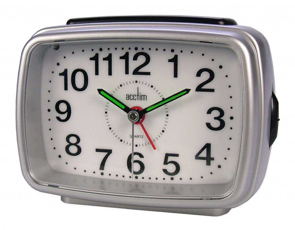 Acctim Retro 2 Clock Silver /White
