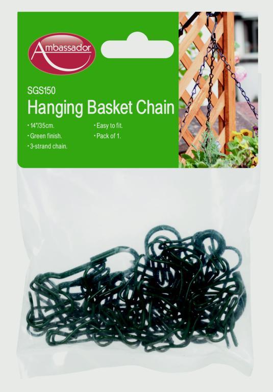 "Ambassador Hanging Basket Chain - 14"" Green"