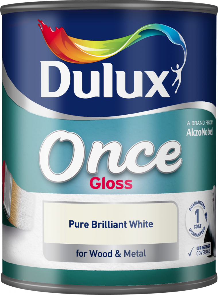 Dulux Once Gloss 750ml - Pure Brilliant White