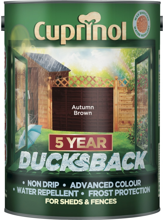 Cuprinol Ducksback 5L - Autumn Brown