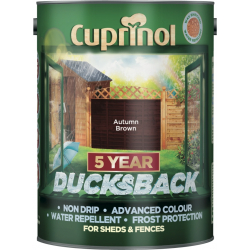 Cuprinol Ducksback 5L Autumn Brown