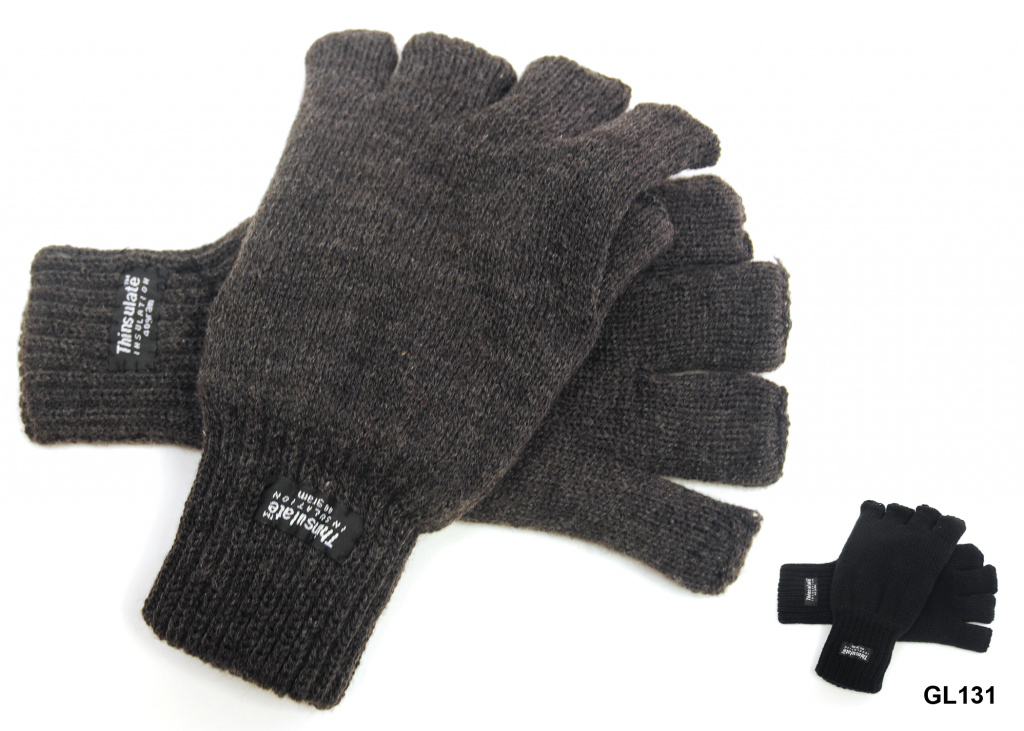 RJM Mens Fingerless Glove - Assorted